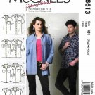 McCall's Sewing Pattern 6613 Misses Mens Unisex Chest Size 34-44 Palmer & Pletsch Button Front Shirt