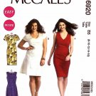 McCall's Sewing Pattern 6920 Misses Size 8-16 Easy Princess Seam Dress Sleeve Skirt Options