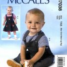 McCalls Sewing Pattern 7038 Baby Girls Boys Size NB-XL Tops Overalls Jumper