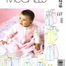 McCalls Sewing Pattern 7219 Baby Girls Boys Size S-XL Buntings Jumpsuits Sleepers Beanies Blanket