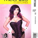 McCall's Sewing Pattern 7398 Misses Size 6-14 Corseted Bodysuit Collar Cuffs Tail Yaya Han Cosplay