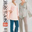 Butterick Sewing Pattern 4325 Misses Size 6-8-10 Easy Pullover Empire Raised Waist Top Blouse