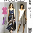 McCall's Sewing Pattern 7383 Misses Size 4-14 Easy Knit Pullover Dress Seam Details