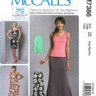 McCall's Sewing Pattern 7386 Misses Size 16-26 Easy Knit Wardrobe Dress Skirt Top