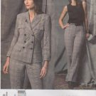 Vogue Sewing Pattern 2830 Misses Size 8-10-12 Anne Klein Pantsuit Jacket Pants