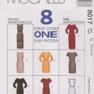 McCall's Sewing Pattern 8017 Misses Size 10-14 Easy Classic Straight Short Long Dress