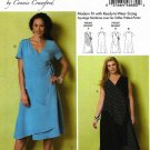 Butterick Sewing Pattern 6359 Womens Plus Size 18W-44W Connie Crawford Wrap-Front Dresses Overlays