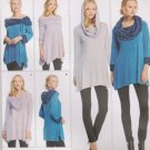 Simplicity Sewing Pattern 1014 Misses Sizes 4-26 Knit Tunics Long Sleeves Cowl Neck