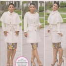 Simplicity Sewing Pattern 1016 Misses Size 10-18 Coat Detachable Cape Belt