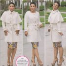 Simplicity Sewing Pattern 1016 Womens Plus Size 20W-28W Coat Detachable Cape Belt