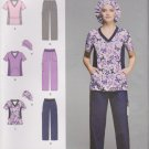 Simplicity Sewing Pattern 1020 Misses Sizes 10-18 Scrub Pants Tops Hat Uniform