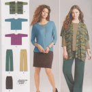Simplicity Sewing Pattern 1071 Misses Size 14-26 Easy Wardrobe Knit Skirt Pants Top Vest