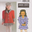 Butterick Sewing Pattern 4278 B4278 Girls Size 6-8 Lauren Scott Winter Fall Jacket Skirt Hat
