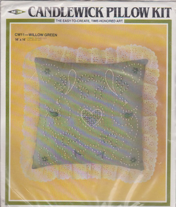 """Candlewick Pillow Kit CW11 Willow Green 14"""" x 14"""" Easy Opened Kit"""