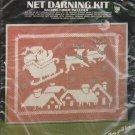 "Vogart Crafts Net Darning Kit Christmas Picture #2943 BONUS 4 Design Booklets Included! 16"" x 20"""