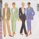 Butterick Sewing Pattern 5835 Misses Size 14-16-18 Classic Shawl Collar Jacket Straight Skirt Pants