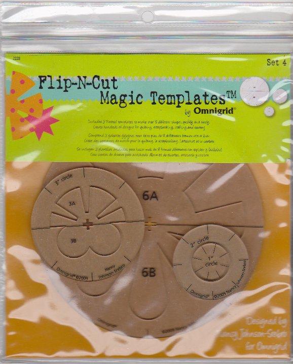 Flip-N-Cut Magic Templates by Omnigrid Set 4 Nancy Johnson-Srebro