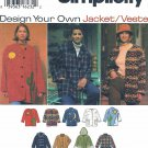 Simplicity Sewing Pattern 9287 Misses Sizes 18-24 Button Front Jacket Optional Hood Applique