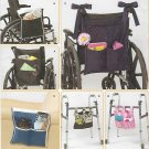 Simplicity Sewing Pattern 2822 Totes Wheelchair Walker Chair Bags Carriers
