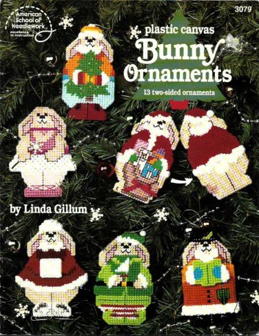 Plastic Canvas Bunny Ornaments by Linda Gillum 3079