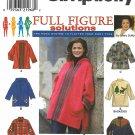 Simplicity Sewing Pattern 8267 Women's Plus Size 18W-24W Zipper Front Jacket Hood Trim Options