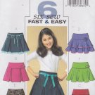 Butterick Sewing Pattern 4593 Girls Size 12-14-16 Easy Pleated Layered Tiered Yoke Skirt
