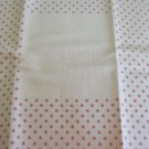 "Hopscotch Style 16 ct Aida Cloth 16 1/2 x 16 1/2 Cream/Dark Red 8"" Blank Square to Stitch"