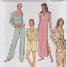 Butterick Sewing Pattern 4037 Misses Size 6-14 Easy Nightgown Robe Pajamas Top Pants Shorts