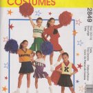 McCall's Sewing Pattern 2849 Girls Size 12-14 Cheerleaders Outfits Pleated Skirt Tops Panties