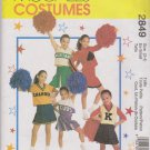 McCall's Sewing Pattern 2849 Girls Size 3-4 Cheerleaders Outfits Pleated Skirt Tops Panties