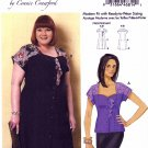 Butterick Sewing Pattern 6395 Womens Plus Sizes 18W-44W Connie Crawford Front Button Dress Blouse