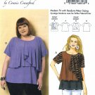 Butterick Sewing Pattern 6396 Womens Plus Size 18W-44W Connie Crawford Pullover Top Blouse