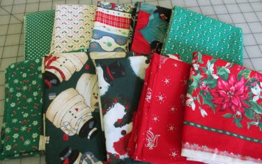 Moonwishes Stash Builders Christmas Fat Quarters #MW-CSB-003 Assorted Handcut Fabrics