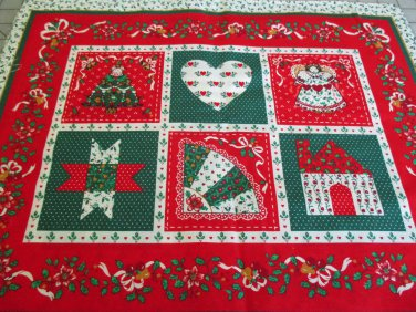 "Moonwishes Stash Builders Christmas 4 15 x 18"" Placemats Fabric Lot #001 Cotton"