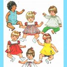 "Simplicity Sewing Pattern 9508 Baby Doll Clothes Sizes 15""-17"" Dress Panty Romper Pants"