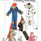 "Simplicity Sewing Pattern 7649 0628 Mens Misses Chest Size 32-34"" Clown Costume Hat"
