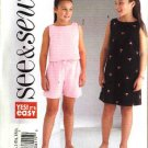 Butterick Sewing Pattern 4161 Girls Plus Size 10½-16½ Easy Pullover Top Dress Shorts