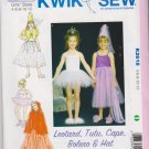 Kwik Sew Sewing Pattern 2618 Girls Sizes 4-12 Costumes Leotard TuTu Cape Bolero Hat Dance
