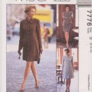 McCalls Sewing Pattern 7776 Misses Size 8-12 Easy Button Front Dress Jacket Skirt Suit