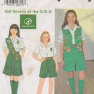 Simplicity Sewing Pattern 0650 7776 Girls Size 8 ½ - 16 ½ Girl Scout Uniform Shorts Shirt Skirt