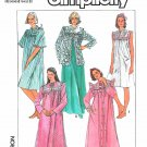 Simplicity Sewing Pattern 7643 Misses Sizes 10-12 Nightgown Robe Bed Jacket