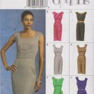 Vogue Sewing Pattern 8594 Misses Size 18-24 Easy Sleeveless Straight Dress Trim Length Options