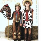 Kwik Sew Sewing Pattern 3920 Boys Girls Size 3-10 Cowboy Cowgirl Chaps Vest Skirt Stick Horse