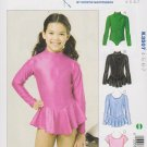 Kwik Sew Sewing Pattern 3507 K3507 Girls Size 4-7 Leotards Optional Skirt Dance Gymnastics Skating