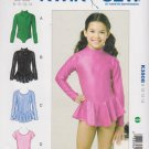 Kwik Sew Sewing Pattern 3508 Girls Size 8-14 Leotards Optional Skirt Dance Gymnastics Skating