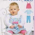 Kwik Sew Sewing Pattern 3607 Baby Size XS-XL Knit Jumper T-Shirt Top Leggings
