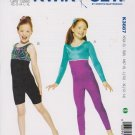 Kwik Sew Sewing Pattern 3887 Girls Size 4-14 Unitard Dance Skate Gymnastics
