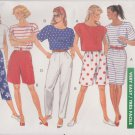 Butterick Sewing Pattern 4126 Misses Size 16-22 Easy Classic Wardrobe Top Skirt Shorts Pants