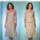 Butterick Sewing Pattern 4126 Misses Size 6-8-10 Unlined Jacket A-Line Slip Lined Dress
