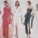 Butterick Sewing Pattern 6008 Misses Size 6-8-10 Formal Strapless Straight Long Dress Bolero Jacket